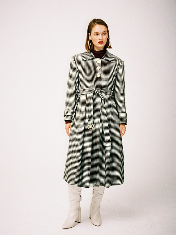 EMMA HOUNDSTOOTH COAT
