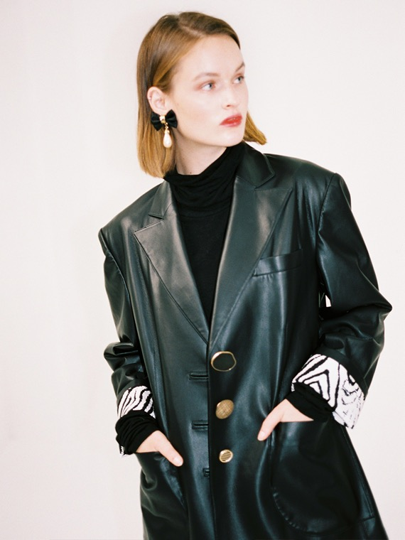 PIPER OVERSIZED FAUX LEATHER JACKET