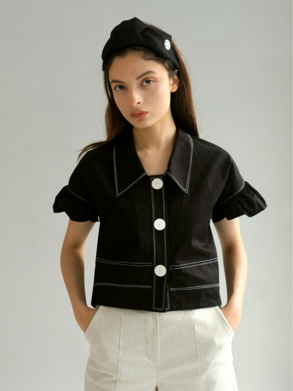 BILLIE FRILLED BLOUSE_BLACK
