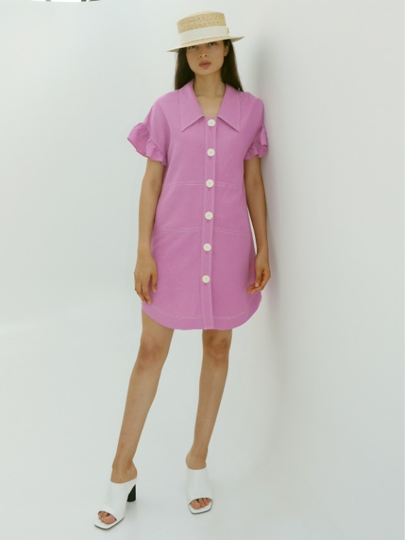 JENNY FRILLED TUNIC DRESS_LILAC