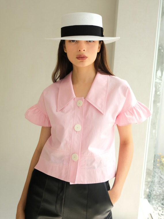 BILLIE FRILLED BLOUSE_PINK