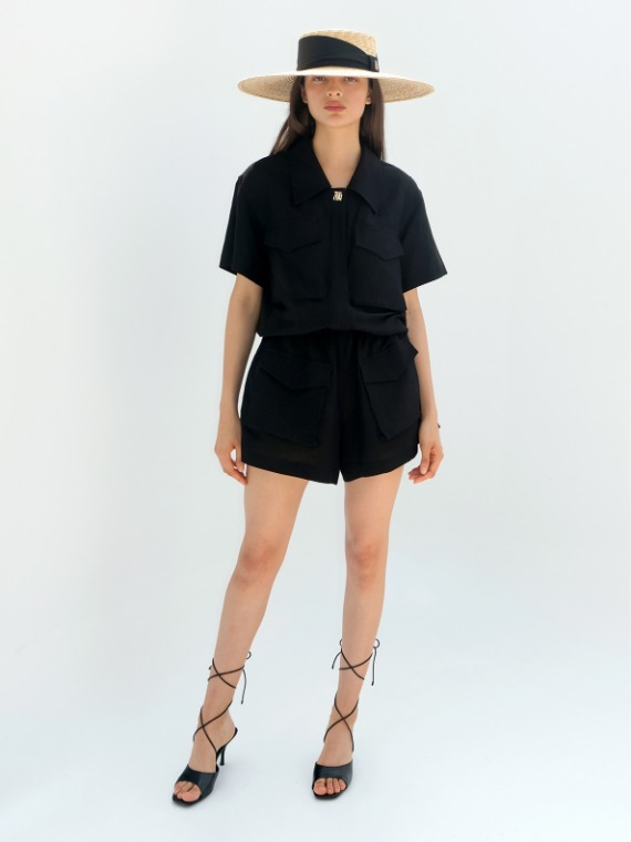 MARY SAFARI PLAYSUIT_BLACK