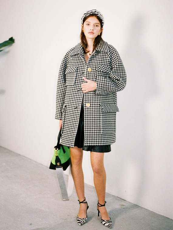 MATILDA WOOL CHECK COAT