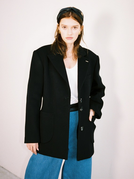 MERYL WOOL CASHMERE COAT_BLACK