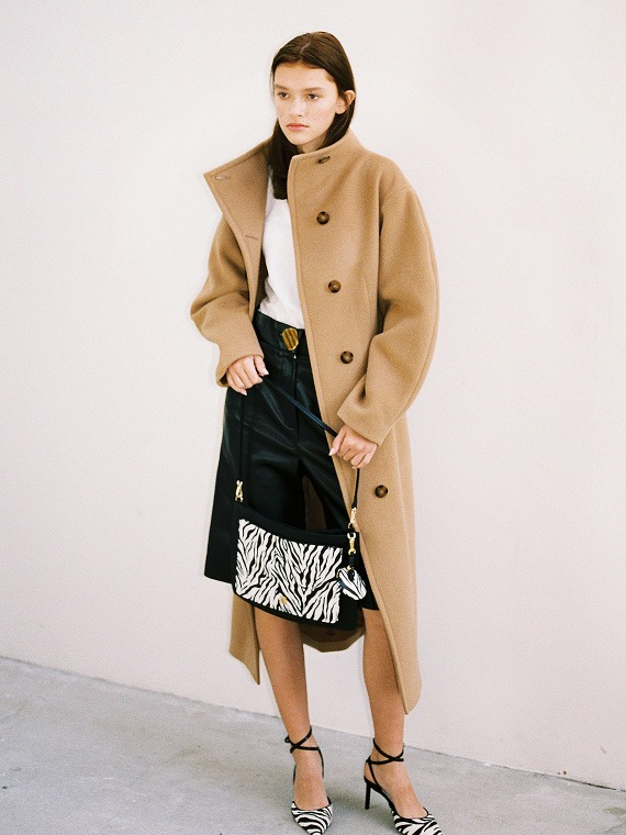 ANNE VOLUME COAT_CAMEL