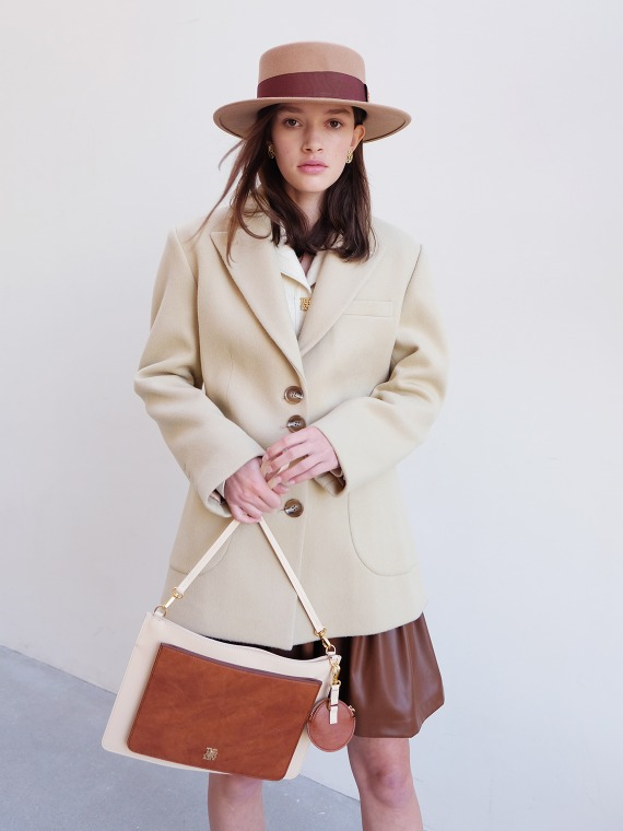 MERYL WOOL CASHMERE COAT_CUSTARD